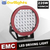 OEM ODM LED 12V 225W Light 4X4 Accessories LED Spot Work Light, 10 Inch 225W LED Driving Light
