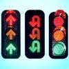 Impermeabilizar el semáforo de la vendimia LED de 12 pulgadas/la señal de tráfico que contellean para la seguridad del camino