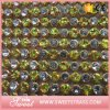 무지개와 명확한 돌에 의하여 섞이는 디자인 메시 레이스 모조 다이아몬드 결정 손질