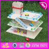 Игрушка гаража стоянкы автомобилей 2015 горячих малышей деталя деревянная, игрушка гаража стоянкы автомобилей автомобиля детей, игрушка места для стоянки подарка рождества для игрушки W04b024 DIY