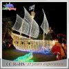 Света веревочки украшений мотива шлюпки рождества волшебной яркости напольные