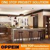 PVC de Oppein Villa Design Wood Grain e Lacquer Kitchen Cabinet (OP16-Villa1)