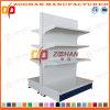 Prateleira de indicador lateral dobro de aço personalizada 4 séries do supermercado (Zhs520)