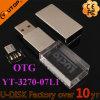 Movimentação de cristal personalizada do flash do USB do telefone de pilha de OTG (YT-3270-07L1)
