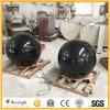 Sphère de flottement /Ball de fontaine en pierre ronde noire de granit pour le jardin