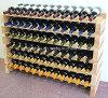Visualización grande del almacenaje de estante del vino de madera sólida de 72 botellas
