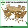 Jeu de jardin d'utilisation générale de meubles de patio en bois de chêne