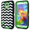Patrón Galaxy S5 i9600 Wave Case Hybrid High Impact 6 colores al por mayor