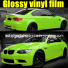 Pellicola verde lucida dell'involucro dell'automobile di alta qualità