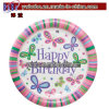 Placas Happy Birthday Party Paper Butterfly, 9 '' (B7041)