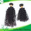 Weave natural do cabelo humano do Virgin do cabelo brasileiro profundo da onda