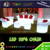 Plastic Glow LED Furniture Sofa Chair