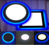 Venta caliente 2 en 1 luz del panel doble del color LED, color decorativo 2 LED de 6W 9W 16W 24W Downlight