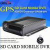 DVR móvel, H. 264 4CH Car DVR, GPS, I/O, G-Sensor, Vehicle DVR, Support Dual SD Card até 128g