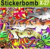 Auto-Adhesive Customized Car Sticker, Car Decals e Graphics di Sticker della bomba