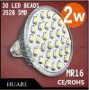 2W 3528 Birne AC110 des Scheinwerfer-LED --220V MR16 120 Grad CER, RoHS