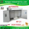 Retenir l'incubateur industriel complètement automatique de poulet de 3000 oeufs