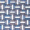 Het Chinese Gouden Mozaïek van de Kunst van het Glas voor Bouwmateriaal/Mosaico (VMW3307)