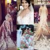 Длиннее платье венчания H146250 Mermaid шнурка Венеци Applique Шампань Tulle втулок