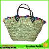 Saco de praia feito à mão com seagrass personalizado para senhora