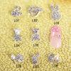 100PCS Nail Art Decoration Alloy Jewelry Colorful Glitter Rhinestone