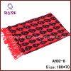 Red Skull Head Printed Cool Fashion Scarf (AH02-8)