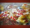 Pittura a olio floreale moderna di arti (FL2157)