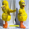 Traje da mascote - o pássaro grande amarelo