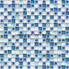 Причудливый Style Blue & White Ice Crackle Ceramic Mosaic с Glass