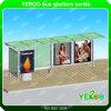 Stadt-Straßen-Stahlkonstruktion-Solarbushaltestelle-im Freienmöbel
