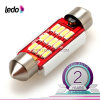 꽃줄 42mm 1.72  터보 12*4014SMD Canbus LED Car Light Bulb