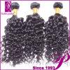 加工されていない巻き毛の金完全なインドの人間の毛髪の拡張