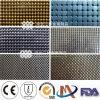 Beau tissu métallique décoratif de tissu, tissu de Sequin en métal