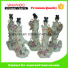 Estatua de hadas de cerámica china de 5 PCS/Set con la flor