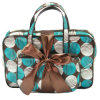 Grand Polyester Travel Toiletry Cosmetic Bag avec Bow