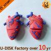 Memória Flash humana feita sob encomenda do USB da forma do coração (YT-Coração)