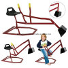 Heavy Duty Red Kid Sand Digger Escola Yard Beach Sand Play