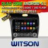 Automobile DVD GPS del Android 5.1 di Witson per il supporto del Internet DVR della ROM WiFi 3G della chipset 1080P 16g di KIA Cerato 2013with (A5509)