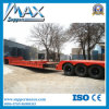 3 차축 50t Flat Low Bed Semi Trailer