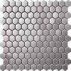 Bienenwabe-Hexagon-Mosaik-Edelstahl-Fliese