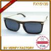 Lunetterie populaire de marques du bâti Fx15130 de pleines lunettes de soleil en bois de lentille