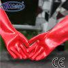 Перчатка масла и воды PVC красного цвета Nmsafety длинняя упорная работая