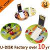 USB Flash Drive rond personnalisé de carte de qualité de cadeau de modèle