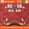 Schuimend pvc 3D Wall Paper met Brick Patterns