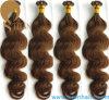 Extensões pre ligadas lisas 8# do cabelo humano da ponta