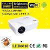 360 proyector androide del Portable del tirón LED6018 WiFi de Degress