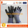 Guante ultra fino de nylon gris Dpu415 del negro