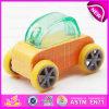 À moda refrigerar carro dos miúdos do brinquedo pequeno de madeira do projeto o mini, carro pequeno de madeira W04A180c do brinquedo das crianças engraçadas do jogo