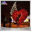 대중적인 도시 조경 LED 크리스마스 심혼 옥외 훈장 빛