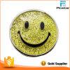 Divisa del metal de polvo de Glittle de la cara de la sonrisa de la promoción